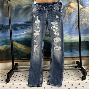 Silver Tuesday straight distressed jeans w25/l30